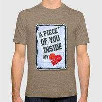 A piece of you inside my heart Mens Fitted Tee Tri-Coffee SMALL