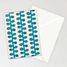 Like a Leaf [blue spots] Stationery Cards