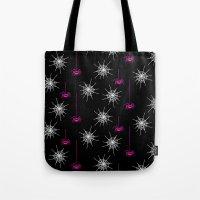 Pink Spiders Tote Bag