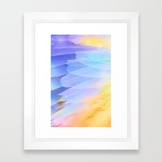 Texture plumage Framed Art Print