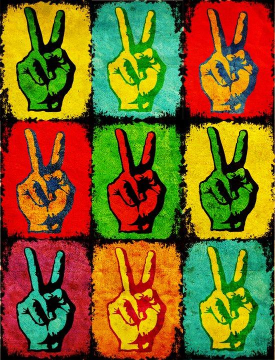A colorful peace Art Print