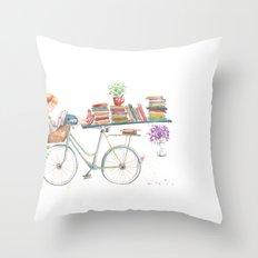 Reading Time Throw Pillow