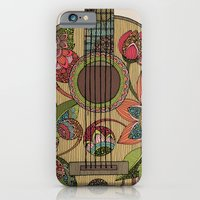 iPhone & iPod Case featuring The Guitar  by Valentina Harper