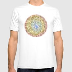 exile mandala White SMALL Mens Fitted Tee