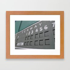 Fenwall -- Boston Fenway Park Wall, Green Monster, Red Sox Framed Art Print