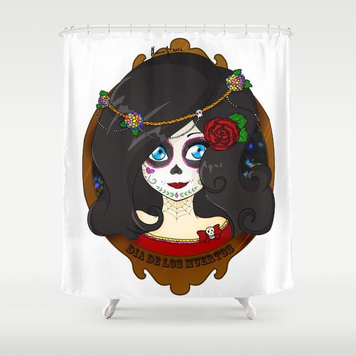 Dia De Los Muertos Shower Curtain By Lilolilosa Society6