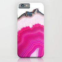 iPhone Cases featuring Pink Agate Slice by cafelab