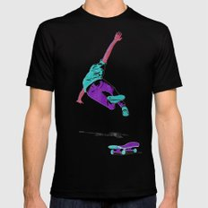 skateboarding 2 (lost time, risograph) Mens Fitted Tee SMALL Black
