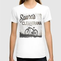 Sauro's Cleanerama Womens Fitted Tee White SMALL
