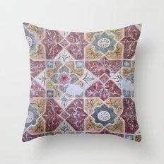Geometric Wall Pattern Throw Pillow