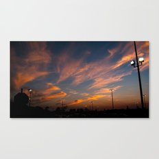 Purple-golden sunset  Canvas Print