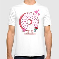 The Donut Valentine Mens Fitted Tee White SMALL