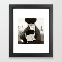 Cat And Alien Framed Art Print