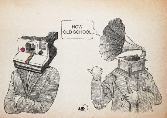 how old school Art Print