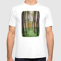 Landscapes / Nr. 5 Mens Fitted Tee White SMALL