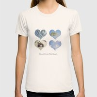 Shoot From the Heart Womens Fitted Tee Natural SMALL