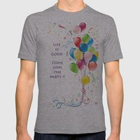 Life Is Good Mens Fitted Tee Athletic Grey SMALL