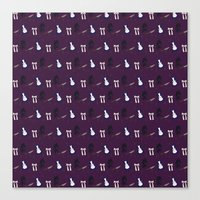 Alice Maddness Pattern Canvas Print
