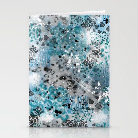 Blue Print Stationery Card