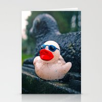 Graveyard Duck Stationery Cards