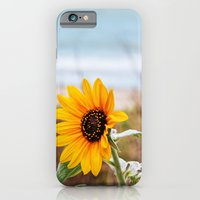 iPhone & iPod Case featuring Sunflower near ocean by Wendy Townrow