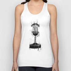 DARK MICROPHONE Unisex Tank Top