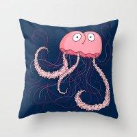Jellyfish Buttface Throw Pillow