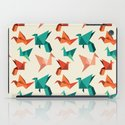 teal paper cranes iPad Case