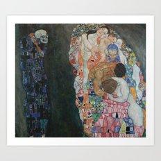 Gustav Klimt - Death and Life Art Print