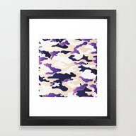 Framed Art Print featuring Coreal Camo by Jow Artwork