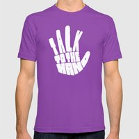 Talk To The Hand Mens Fitted Tee Ultraviolet SMALL