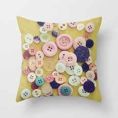 Vintage Buttons  Throw Pillow