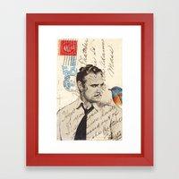 Brando and Bird Framed Art Print
