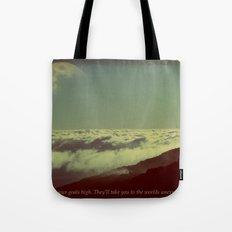 Set Your Goals High Tote Bag