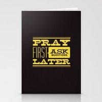 Pray First Stationery Cards