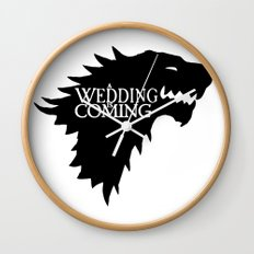 A Wedding Is Coming Wall Clock