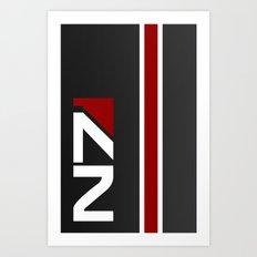 Mass Effect - N7 Hardcas… Art Print