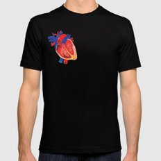 I give you my heart SMALL Black Mens Fitted Tee