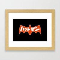 Japanese Red Bat Symbol Framed Art Print