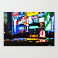 Osaka Japan Night Lights Canvas Print