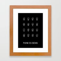Punk Is Dead Framed Art Print