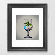 MixMotion: Tropical Drinks Framed Art Print