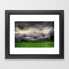 Low Clouds Framed Art Print