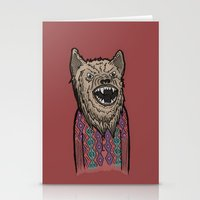 Hipster Wolf Stationery Cards
