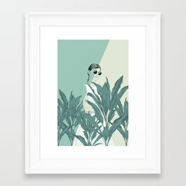 Framed Art Print - The Blue Nature - The Red Wolf