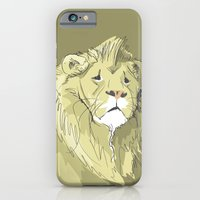 iPhone & iPod Case featuring The Sad Lion by Marlene Pixley