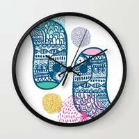 KISSING BIRDS Wall Clock