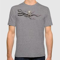 Night Owl Mens Fitted Tee Tri-Grey SMALL