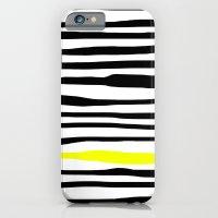 Neon zebra stripes iPhone 6 Slim Case