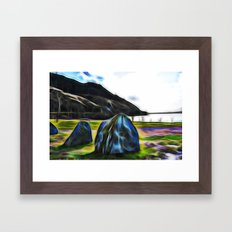 somewhere in Scotland Framed Art Print